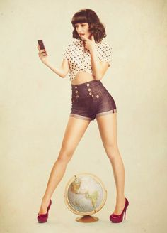 Love this pin-up girl style!