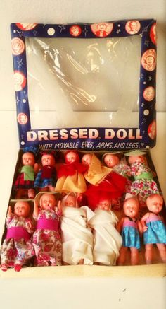 Vintage toy dress doll