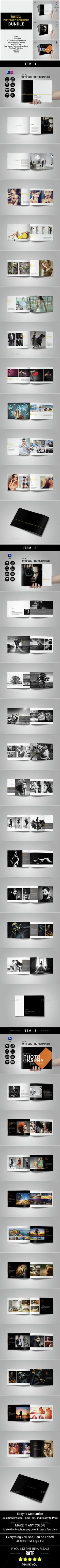 Minimal Portfolio Photography Bundle — Photoshop PSD #photography portfolio #photographer portfolio • Available here → https://graphicriver.net/item/minimal-portfolio-photography-bundle/14887426?ref=pxcr
