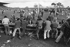 1981 Springbok Tour of NZ - Protesters flood on to Rugby Park.