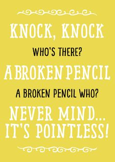 Some fun back to school jokes for kids! Great for surprise notes in the lunchbox or use with the whole class!