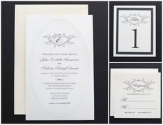 Pin for Later: 72 Beautiful Wedding-Invite Printables to Download For Free! Elegant Black and White Monogram Wedding Invitation True elegance shines through this black and white monogram wedding invitation. Source: Wedding Chicks
