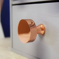 These beautiful hexagonal, round and square matte copper cupboard knobs are a new addition to the Pushka range and are sure to add a stylish touch to any interior. Our elegant knobs make great housewarming presents or maybe a present for your own home to add that bit of character. The matte copper plated finish make these a perfect addition to your furniture. Please note that for the moment longer screws are not available for this product. Wipe clean with warm water and a soft cloth. Avoid…