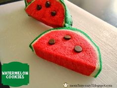 Running away? I'll help you pack.: Watermelon Cookies ... Summer Time Cookies