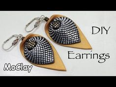 How to make a mesh effect . Polymer clay earrings tutorial - YouTube