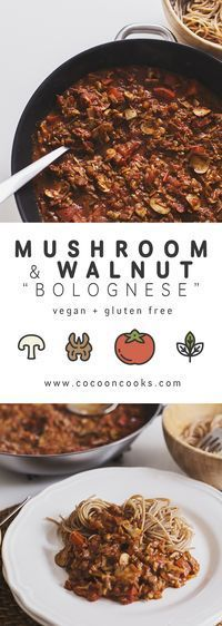"Meet our spicy wholesome take on a great italian classic: a Mushroom & Walnut ""Bolognese"" that requires only natural, plant-based ingredients. It is so deliciou"