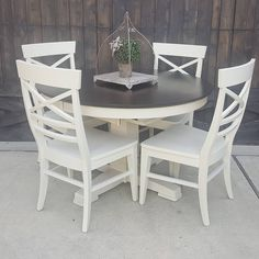 New ideas kitchen table makeover ideas general finishes Refurbished Kitchen Tables, Refurbished Chairs, Painted Kitchen Tables, White Kitchen Chairs, Refinishing Kitchen Tables, Kitchen Black, Kitchen Table Chairs, Kitchen Paint, Diy Kitchen