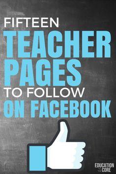 Fifteen Teacher Pages to Follow on Facebook