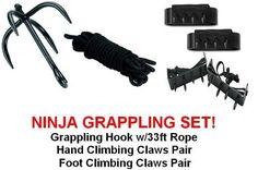 Ninja Grappling Set Climbing Hook Foot Hand Claws Gear by SuperKnife. $34.54. Ninja Grappling Set