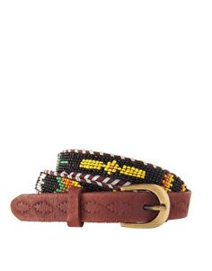 Enlarge ASOS Leather and Aztec Bead Waist Belt