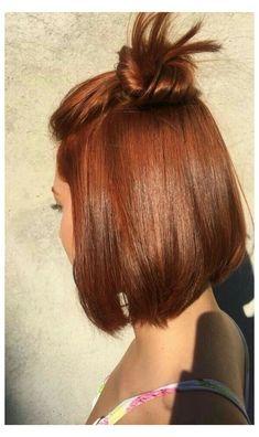 Short Auburn Hair, Hair Color Auburn, Red Hair Color, Hair Colors, Auburn Bob, Short Red Hair, Front Hair Styles, Medium Hair Styles, Hair Front