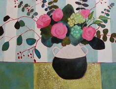 "Annie O'Brien Gonzales: Contemporary Abstract Still Life Flower Art Painting ""SAINT GERMAIN #3"" by Santa Fe Artist Annie O'Brien Gonzales-http://annieobriengonzalespaintings.blogspot.com/2015/01/contemporary-abstract-still-life-flower_31.html"