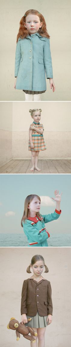 This is the lovely, and slightly disturbing, work of German artist Loretta Lux.