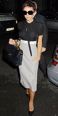 #VictoriaBeckham wearing Victoria Beckham Dresses