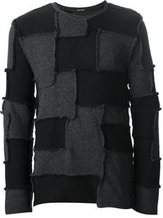 LUMEN ET UMBRA - patchwork sweater --- deconstruction and patchwork are two design motifs that work really well with each other.