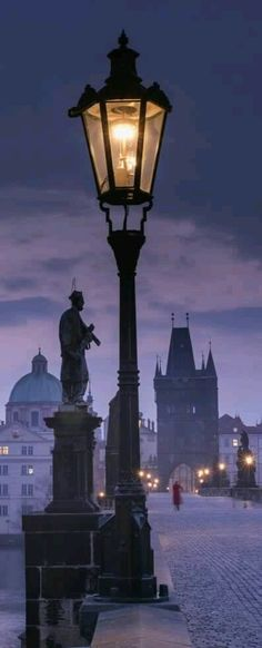Street Lamp, Prague, Czech Republic (photo by WilsonAxpe) I left part of my heart in Prague. Such a stunning city. I will always love it and visit when I'm in Europe Wonderful Places, Great Places, Places To See, Beautiful Places, Beautiful Pictures, Saint Marin, Travel Around The World, Around The Worlds, Beau Site
