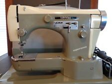 NECCHI SUPER NOVA FREE ARM SEWING MACHINE SERVICED CLEAN RARE