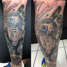 (Star Wars Tattoo. Colour Tattoo. Geeky Tattoo. Star Wars.)