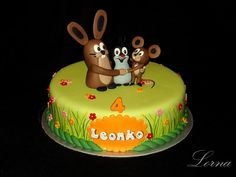 Little Mole & Friends. - Cake by Lorna Cake Tutorial, Mole, Themed Cakes, Friends Cake, Birthday Cake, Baking, Birthday, Birthday Cakes, Birthday Cake Toppers