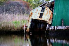 8x10 metallic print  the decayed boathouse by JennyPhyl on Etsy, $22.00