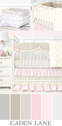 Love this color palette for a baby girl's nursery! Soft and sweet is just the look I am going for.