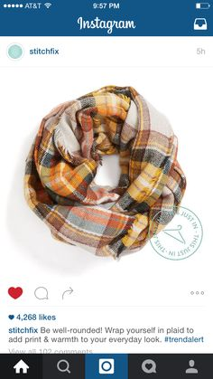 Lovely scarf. Wishing for more like a shawl/wrap with pockets.