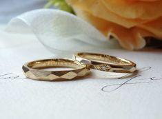 多面体のフォルム:ゴールドの結婚指輪(オーダーメイド/手作り) marriage,wedding,bridal,ring,K18,Gold,ウエディング,ith,イズマリッジ