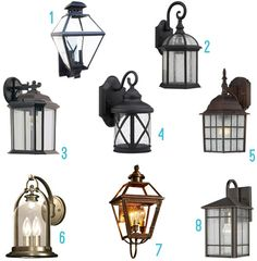 Outdoor sconce installation----Lookin' At Lights | Young House Love