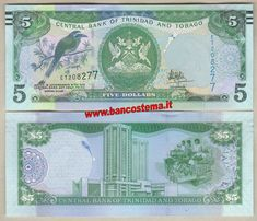 Trinidad And Tobago Steel Drum Foreign Exchange Banknote Sweet Banks