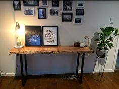 Recycled slab hall table made by recycledtimberfurnitureoz.com