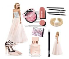 Sweetheart Rhinestone Prom Dress by johnnymuller on Polyvore featuring Fratelli Karida, Chanel, NARS Cosmetics and Maison Francis Kurkdjian