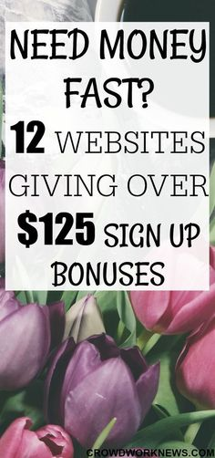 Do you want to earn some extra money fast? Click through to check out these legitimate websites which give over $125 in sign up bonuses and referrals. That's the fastest way to make money online!