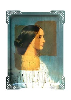 The Galerie De Portraits Ida Large Rectangular Tray #3 by French designer Ibride gives traditional serving trays a second life, turning them into hanging works of art. Designed by Rachel Convers