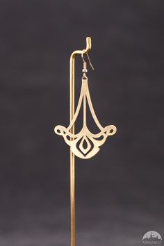 "Fantasy Brass Earrings ""Art Nouveau"""
