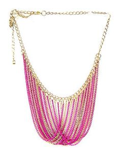 Chain Charm Necklace pinkNK238