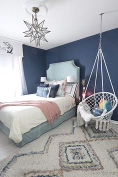 Home Interior Living Room Gorgeous Blue Bedroom Decor Ideas - Dark Blue Teenage Girl Room by Cuckoo 4 Design.Home Interior Living Room Gorgeous Blue Bedroom Decor Ideas - Dark Blue Teenage Girl Room by Cuckoo 4 Design