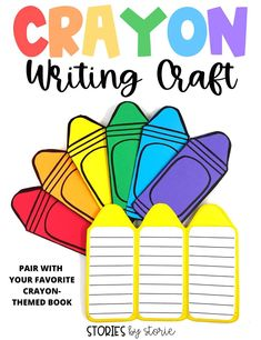 Are you ready to celebrate how diverse and important each student is to your classroom? Just like a box of crayons, each student plays an important role in the overall picture. Use this crayon writing craft with your favorite colorful picture books. I use it with The Crayon Box That Talked, The Day the Crayons Quit, and A Day With No Crayons. Click to find this crayon craft and other colorful activities to use with these picture books.