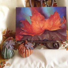 The Colors of Fall on Canvas -- This piece captures the vibrancy of the colors of fall.  #decoartprojects