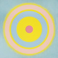 socialclaustrophobia: Kenneth Noland (American, 1924 – Mysteries: Glow, Acrylic on canvas, 60 × 60 in.via crabe-grenouille Kenneth Noland, Field Paint, Hard Edge Painting, Geometric Circle, Famous Art, Arts Ed, Art Abstrait, Art Day, Art History