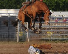 cannonball! Really hoping that cowboy's a fast roller.