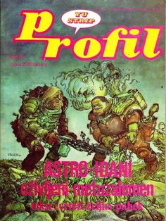 #Astroidjani (Astro-goers) by Zeljko #Pahek - a masterpiece by the famous Yugoslavian author Zeljko Pahek, published in 1981 in the then prestigious STRIP ART magazine. It exudes charming anarchic crossing of Alan Ford, Alien, the Hitchiker's Guide to the Galaxy and Asterix and is packed with black humor, insane action and aggressive parodying of everything and anything. A true lost gem.