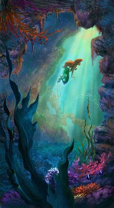 the little mermaid limited edition concept art - Buscar con Google