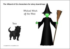 Wizard of Oz cut-out characters (SB3565) - SparkleBox