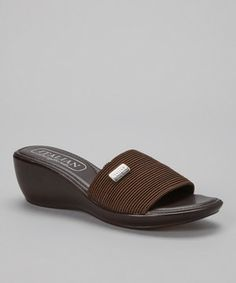 This Italian Comfort Chocolate Wedge Slide by Italian Comfort is perfect! #zulilyfinds