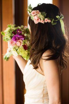 ピンクローズのヘッドリース(ブーケは含まれません)#wedding #bali #bouquet