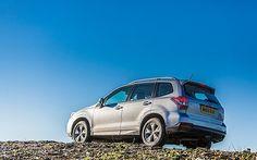 Subaru Forester on rocky terrain
