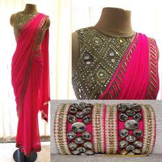 Pink sarew with matching bangle