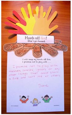 Classroom Freebies: Hands Off Fire