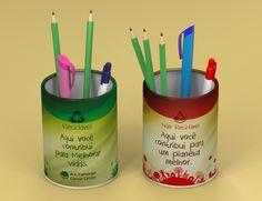 Porta lápis em papelão