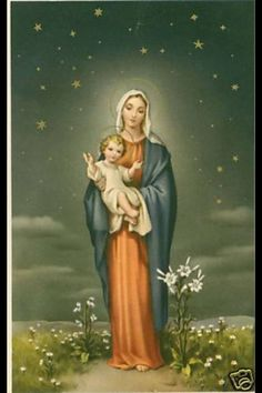 Vintage Holy Card of Blessed Mother Mary and BabyJesus - Out of Stock, but beautiful image.